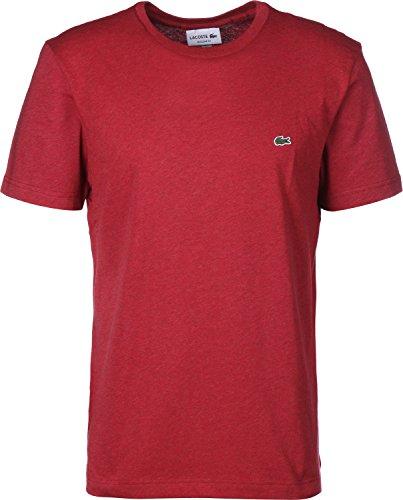 Lacoste TH2038 Klassisches Herren Basic T-Shirt, Rundhals, Kurzarm, Regular Fit, für Freizeit und Sport, 100% Baumwolle Rot (Revolution Chine Phd), EU 3 (T-shirts Lacoste Baumwolle Herren)