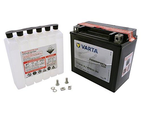 Batterie VARTA YTX14-BS / YTX14-4 für Kawasaki ZX-12R 1200 A Ninja ZXT20AA Bj. 2000-200 [inkl. 7,50 € Batteriepfand]