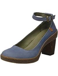 El Naturalista Nf76 Pleasant Lichen, Zapatos con Correa de Tobillo para Mujer