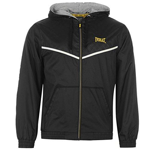 Everlast-Giacca impermeabile leggera maniche lunghe e zip Abbigliamento Black/yellow XL