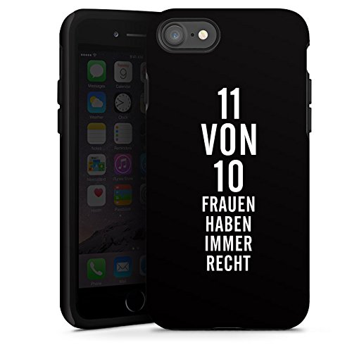 Apple iPhone X Silikon Hülle Case Schutzhülle Lustig Frauen Sprüche Tough Case glänzend