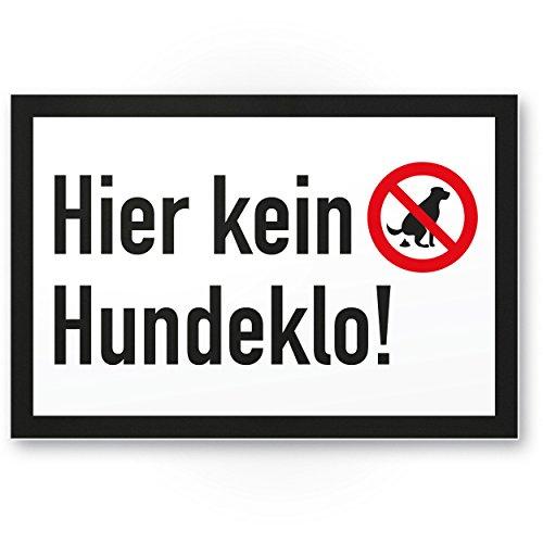 Ici n'est pas pour chien à litière, panneau chien kacken interdit–Interdiction enseigne/chien Interdiction, Interdiction crottes de chien/déjections canines/tas/kacke pour chien/chien Toilette