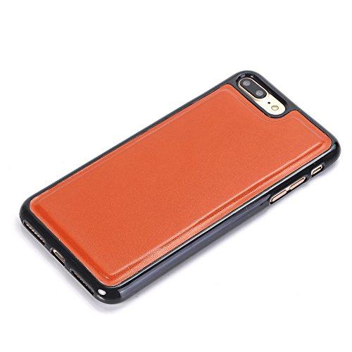 5,5 zoll iPhone 7 Plus Wallet Case, TechCode Karten Slots Bargeldhalter PU Leder Standfuß Flip Card Halter Brieftasche Hüllen Fall für Apple iPhone 7 Plus 5,5 zoll (iPhone 7 Plus, Blau) Orange