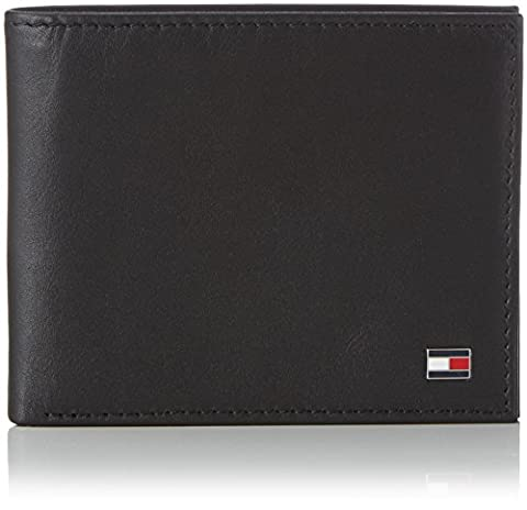 Tommy Hilfiger ETON MINI CC WALLET AM0AM00655 Herren Geldbörsen 11x9x2 cm (B x H x T), Schwarz (BLACK 002)