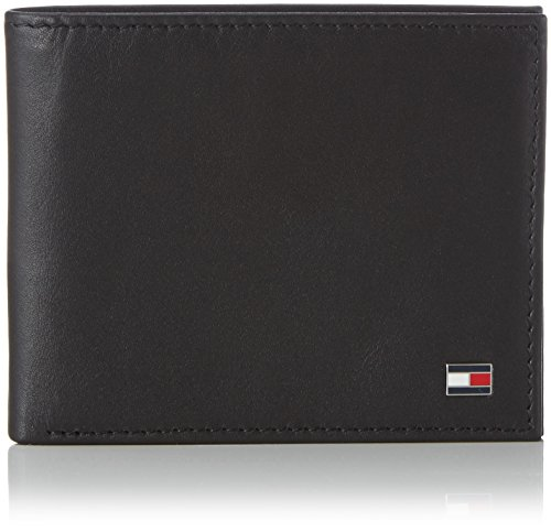 Tommy Hilfiger Eton Mini Cc Wallet - Cartera para hombre, color black, talla única