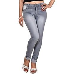 Ico Blue Star Grey Casual Denim For Women (30, Grey)