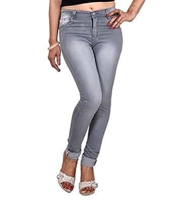 Ico Blue Stor Women's Denim (28, Grey, Grey-M-28)