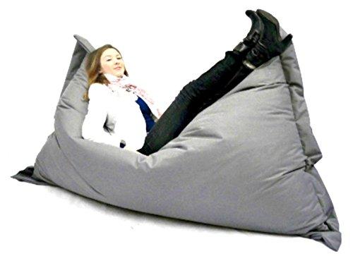 Sitzsack Sessel Riesensitzsack XXL 180 x 145 cm mit Füllung - für Erwachsene und Kinder - In & Outdoor Sitzsäcke Kissen Sofa Hocker Sitzkissen Bodenkissen (ca. 180 x 145 cm, Grau) -