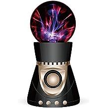 Garyesh Bola Mágica del Plasma Bluetooth Estéreo de Altavoz Apoyar Tarjeta del SD (Negro-Oro)