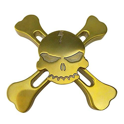 #Airsson Fidget Hand Spinner EDC Spinner perfekt für die Entlastung Stress und Angst für Kind und Erwachsene (Brass-Skull)#