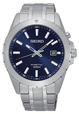Seiko Kinetic para hombre-reloj analógico de cuarzo de acero inoxidable SKA695P1