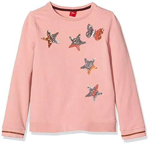 s.Oliver RED Label Mädchen Sweatshirt mit Pailletten-Sternen Light pink 104/110.REG