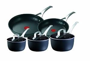 Tefal Jamie Oliver Hard Anodised 5 Piece Saucepan/Frying Pan Set