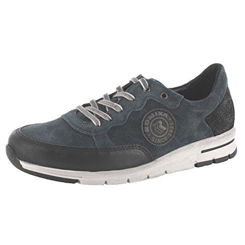 SALE - ROMIKA - Tabea 04 - Damen Halbschuhe - Blau Schuhe in Übergrößen türkis-petrol