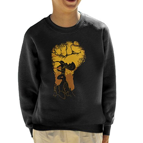 One Punch Man Cityscape Silhouette Kid's Sweatshirt
