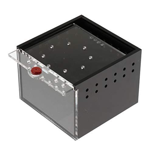 perfk Acryl Zuchtbox Fütterungsbox Transportbox für Reptilien, 8,5x8,5x6,5cm