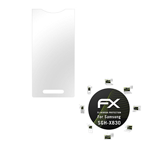Samsung SGH-X830 Spiegelfolie - atFoliX FX-Mirror Displayschutz Folie mit Spiegeleffekt