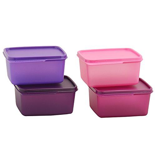 Tupperware Keep Tab Plastic Container Set, 500ml, Set of 4, Multicolour (TUP!_B01AXR1M88)