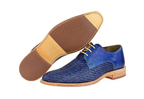 Gordon & Bros. Herrenschuhe - elegante Halbschuhe - Schnürschuhe LORENZO Blau