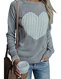 FGFD Mujer Sudaderas Básico Punto Suéter de Moda O-Cuello Otoño Invierno Oversize Jerseys Blusas