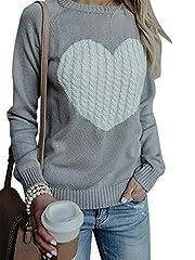 Idea Regalo - Maglione Donna Felpa Ragazza Sweatshirt Oversize Pullover Invernali Primavera Manica Lunga Casual Moda Girocollo Tops Regalo Ideale per Natale (X-Large, Grigio)