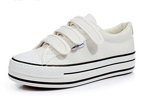 Aisun Damen Rund Hoch Plateau Sneakers Sportschuhe Schwarz 41 EU E5icQB4