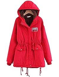 HX fashion Cappotto Invernale da Donna in Cotone Invernale con Collo Taglie  Comode in Pelliccia Giacca con Cappuccio Giacca da Esterno Giacca… b987a745e6e