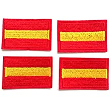 4 pcs Parches bordados España,termoadhesiovs (HC Enterprise-d04)