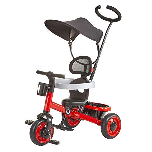 GIFT 3 en 1 Enfants First Ride Trikes for Kids Toddlers Enfants Tricycle Vélo à Pédales à 3 Roues pour 1 2 3 4 Ans Enfants Garçons Filles, Multicolore, Poids Maximum 30 Kg