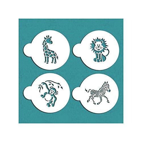 , druckform hohl vorlage Fondant Kuchen Dekoration, Zoo löwe AFFE Zebra Giraffe Muster ()