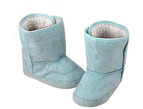 Bébé au chaud Bottes hiver chaussures Fourrure Doublure Garçons Filles Neige 6-24Month Infant Toddler bleu(Blue)