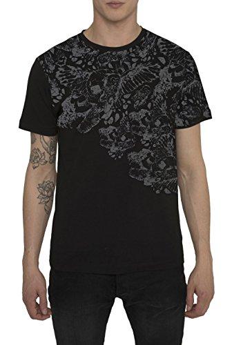 designer-fashion-rock-t-shirts-de-coton-pour-homme-tee-shirt-avec-manche-courte-et-col-rond-noir-bla