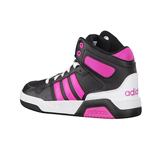 adidas - Bb9tis Mid K, Scarpe sportive Bambino Nero ( Negbas/Rosimp/Ftwbla)