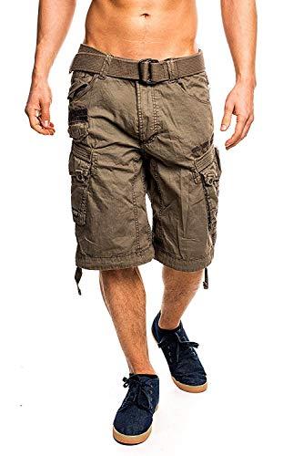 4M3 Geographical Norway People Herren Bermuda Shorts Kurze Hose Storm XL - Herren Shorts Größentabelle