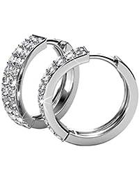 bb19f9066c4b YOURDORA Aro Pendientes para Mujer y Niña de Acero Inoxidable con Cristal  de Swarovski Elements Joyas