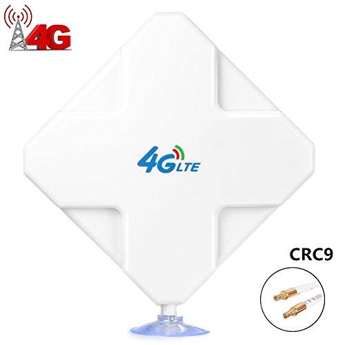 CRC9 4G Hochleistungs LTE Antenne 35dBi Dual Mimo Netzwerk Ethernet Verstärker-Antenne Signalverstärker für Wifi Router Mobiles Breitband, Huawei EC3372 E5377 E160 E160E E173 E1820 E367 E3131 E353 E355 K4505 EC315 EC5377u-872 EC3372 E3276 E3131S E353S ET319 etc (CRC9)