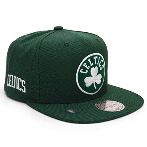 186a5cb5cf5d8 Mitchell   Ness Gorra Under Visor Celtics by Gorragorra de Beisbol (Talla  única - Verde