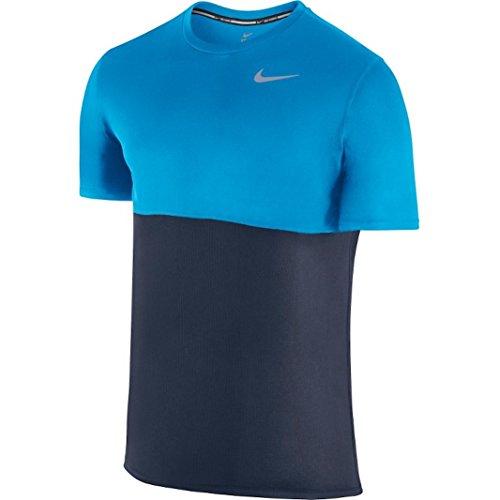 Nike Herren Racer T-Shirt Obsidian/Light Photo Blue/Light Photo Blue