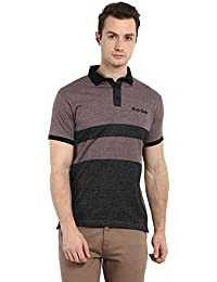 Brown Short Sleeved Polo T-Shirt - B073XHSSW9
