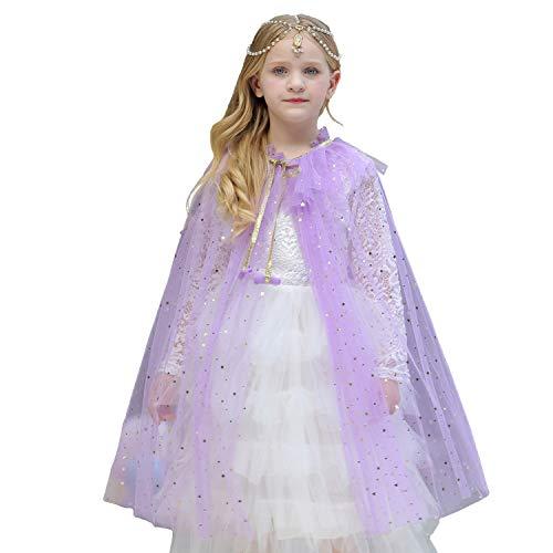 enbogen-Umhang mit Sternen-Motiv, Prinzessinnen-Mantel, für Halloween, Prinzessinnen-Cosplay-Kostüm ()