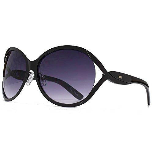 Karen-Millen-Metal-Temple-Twist-Glam-Sunglasses-in-Matte-Black-KML209
