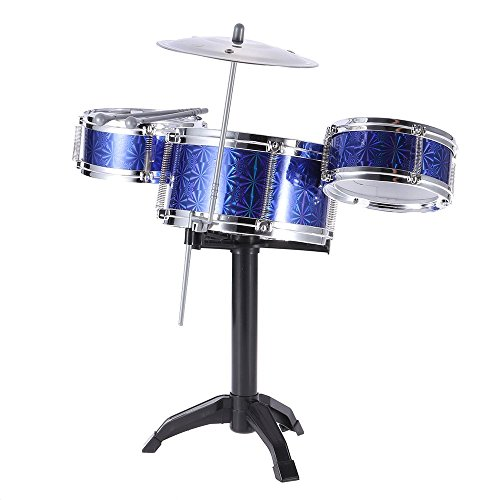 Kinder Kinder Desktop-Drum Set 3 Drums Musikinstrument -Spielzeug mit kleinen Becken Drum Sticks