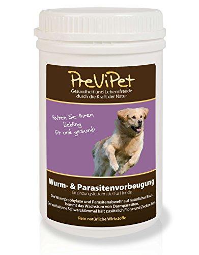 500g Previpet Wurm- & Parasitenvorbeugung Ergänzungsfuttermittel für Hunde - hemmt das Wachstum von Darmparasiten - hält Flöhe und Zecken fern
