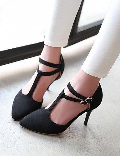 ShangYi Chaussures Femme-Mariage / Bureau & Travail / Soirée & Evénement-Noir / Rose / Violet-Talon Aiguille-Talons-Talons-Similicuir Black