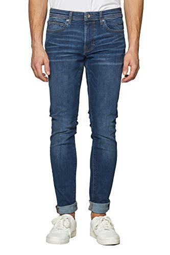 ESPRIT Herren 999Ee2B803 Slim Jeans, Blau (Blue Dark Wash 901), W30/L34 (Herstellergröße: 30/34) -