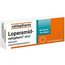 Loperamid-ratiopharm akut 2 mg Tabletten, 10 St.