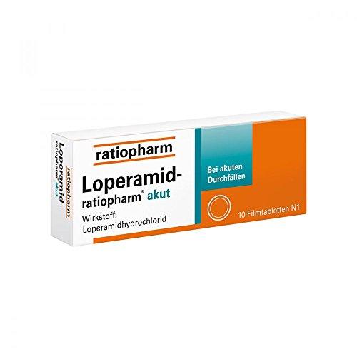 Loperamid-ratiopharm akut 2 mg Tabletten, 10 St.