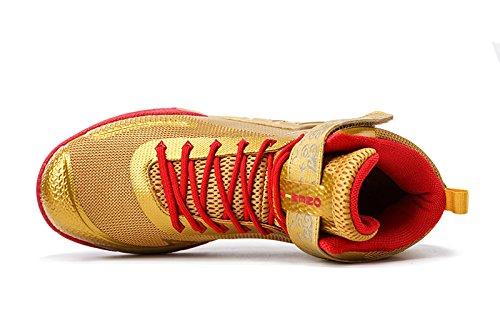 Onemix Herren Mid Air Basketballschuhe,Alltag Freizeit Basketball Schuhe Shoes,Gr 39-46 Gold