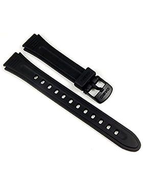 Casio Ersatzband Uhrenarmband Resin Band Schwarz 15mm für LW-201 10177113