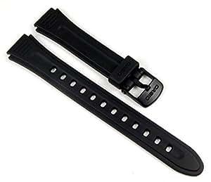 Casio 10177113–Bracelet en Résine, couleur noir (16)